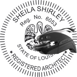 Architect Seal - Pocket Style - Louisiana