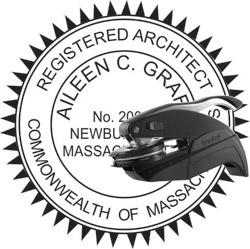 Architect Seal - Pocket Style - Massachusetts