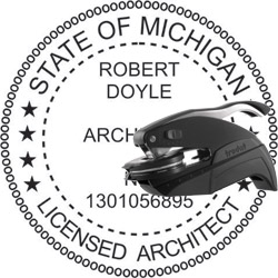Architect Seal - Pocket Style - Michigan