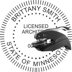 Architect Seal - Pocket Style - Minnesota