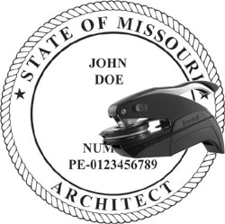 Architect Seal - Pocket Style - Missouri