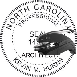 Architect Seal - Pocket Style - North Carolina