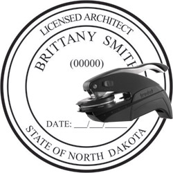 Architect Seal - Pocket Style - North Dakota