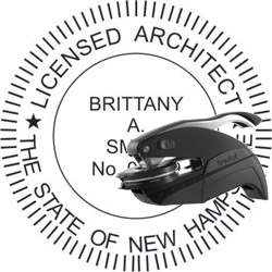 Architect Seal - Pocket Style - New Hampshire