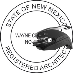 Architect Seal - Pocket Style - New Mexico