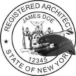 Architect seal wood stamp new york for New york state architect stamp