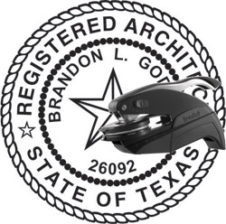 Architect Seal - Pocket Style - Texas
