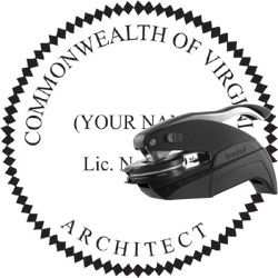 Architect Seal - Pocket Style - Virginia