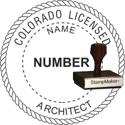 Architect Seal - Wood Stamp - Colorado