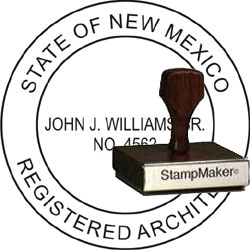 Architect Seal - Wood Stamp - New Mexico