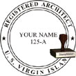 Architect Seal - Wood Stamp - Virgin Islands ARCHITECT_STAMP_WOOD_VIRGIN_ISLANDS
