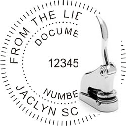Chrome Gift Embosser with Your Text