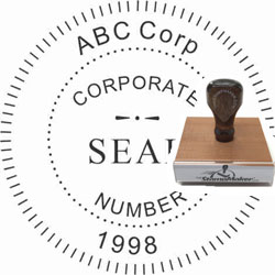 Corporate Seal Stamp - Wood Stamp CORPORATE_SEAL_STAMP