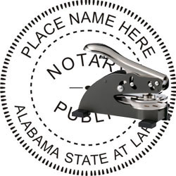 Notary Seal - Desk Top Style - Alabama