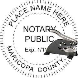 Notary Seal - Desk Top Style - Arizona