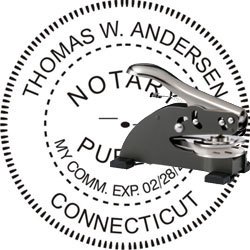 Notary Seal - Desk Top Style - Connecticut