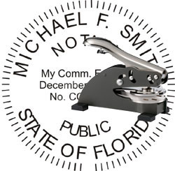 Notary Seal - Desk Top Style - Florida