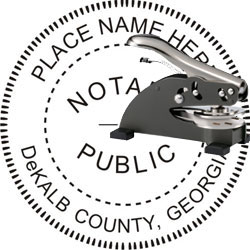 Notary Seal - Desk Top Style - Georgia