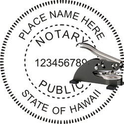 Notary Seal - Desk Top Style - Hawaii