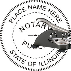 Notary Seal - Desk Top Style - Illinois