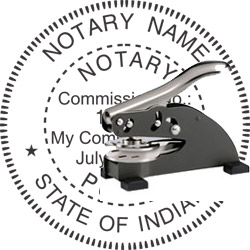 Notary Seal - Desk Top Style - Indiana