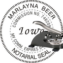 Notary Seal - Desk Top Style - Iowa