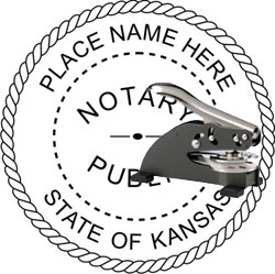 Notary Seal - Desk Top Style - Kansas