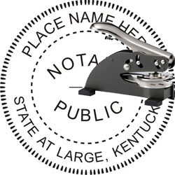 Notary Seal - Desk Top Style - Kentucky