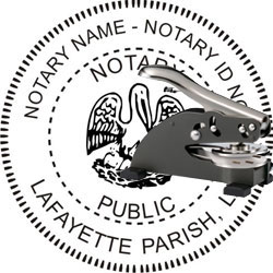 Notary Seal - Desk Top Style - Louisiana