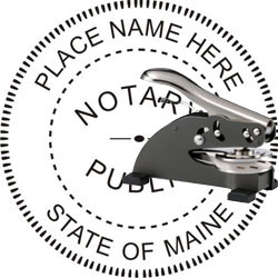 Notary Seal - Desk Top Style - Maine
