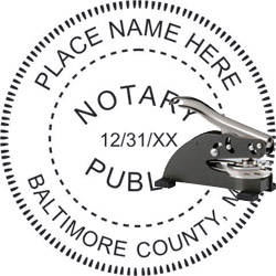 Notary Seal - Desk Top Style - Maryland