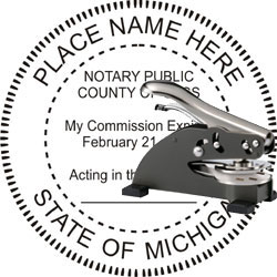 Notary Seal - Desk Top Style - Michigan