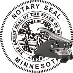 Notary Seal - Desk Top Style - Minnesota