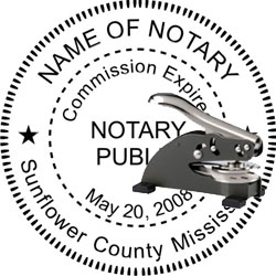 Notary Seal - Desk Top Style - Mississippi