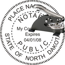 Notary Seal - Desk Top Style - North Dakota