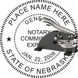 Notary Seal - Desk Top Style - Nebraska