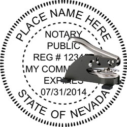 Notary Seal - Desk Top Style - Nevada