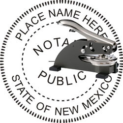 Notary Seal - Desk Top Style - New Mexico