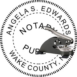 Notary Seal - Desk Top Style - North Carolina