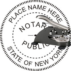 Notary Seal - Desk Top Style - New York