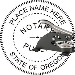 Notary Seal - Desk Top Style - Oregon