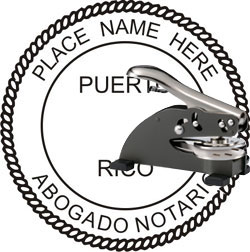 Notary Seal - Desk Top Style - Puerto Rico