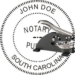Notary Seal - Desk Top Style - South Carolina