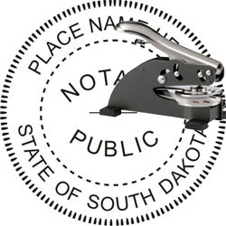 Notary Seal - Desk Top Style - South Dakota
