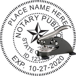 Notary Seal - Desk Top Style - Texas
