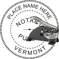 Notary Seal - Desk Top Style - Vermont