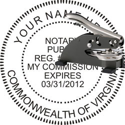 Notary Seal - Desk Top Style - Virginia