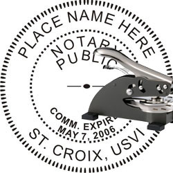 Notary Seal - Desk Top Style - Virgin Islands