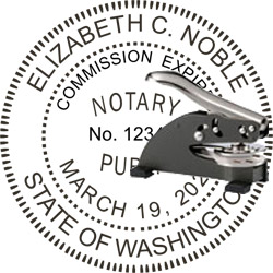 Notary Seal - Desk Top Style - Washington