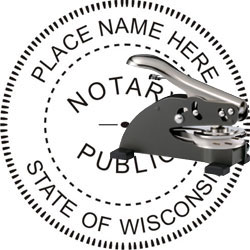 Notary Seal - Desk Top Style - Wisconsin